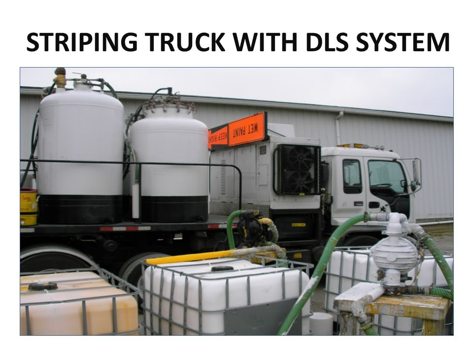 STRIPING TRUCK WITH DLS SYSTEM
