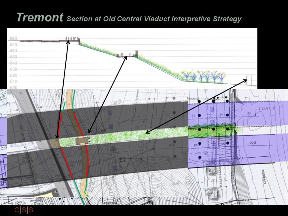 C S S Tremont Section at Old Central Viaduct Interpretive Strategy