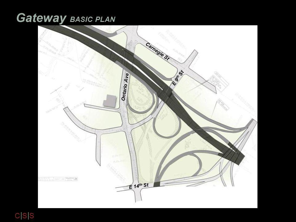 C S S Gateway BASIC PLAN Ontario Ave Carnegie St E 14 th St E 9 th St
