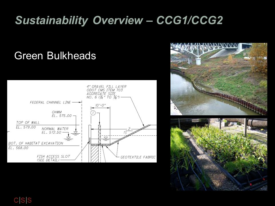 C S S Sustainability Overview – CCG1/CCG2 Green Bulkheads