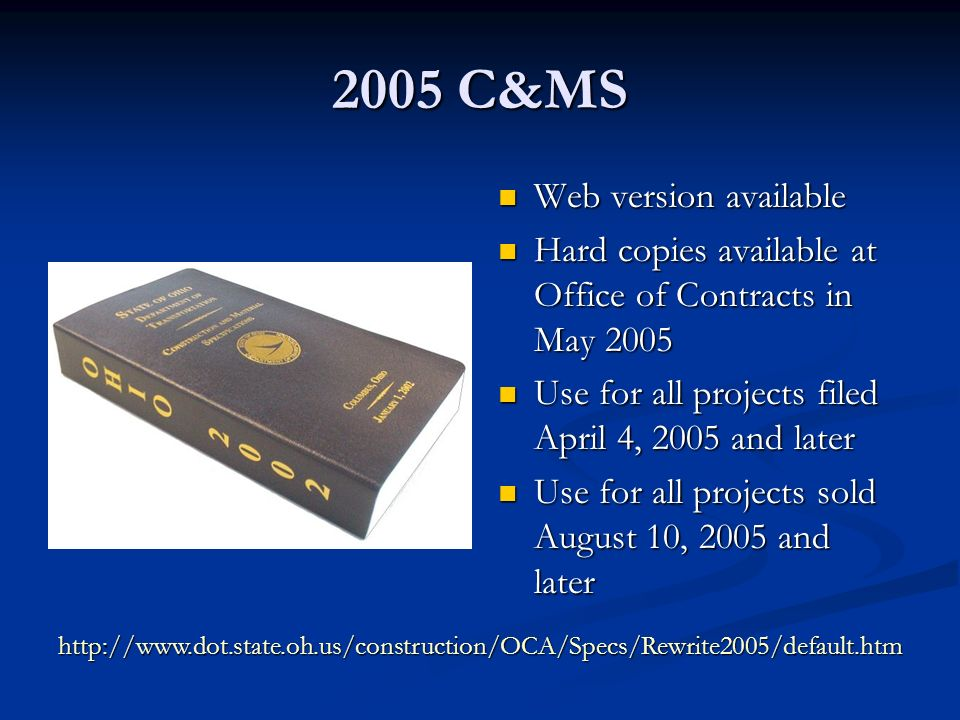 2005 C&MS Item 512 – Treating Concrete Concrete Sealing (SS 864) HMWM (SS846) SRS (SS 841) Gravity-Fed Resin (PN 515) Epoxy Injection (PN 522)
