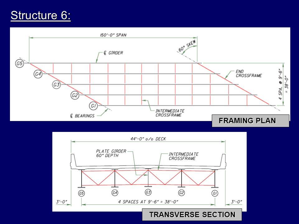 FRAMING PLAN TRANSVERSE SECTION Structure 6: