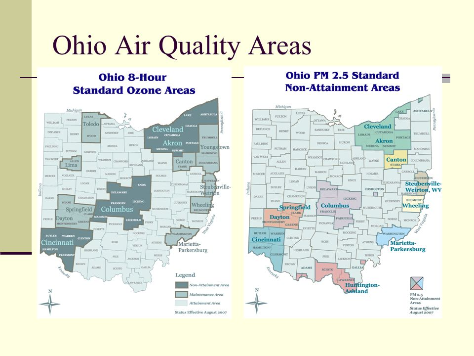 Ohio Air Quality Areas