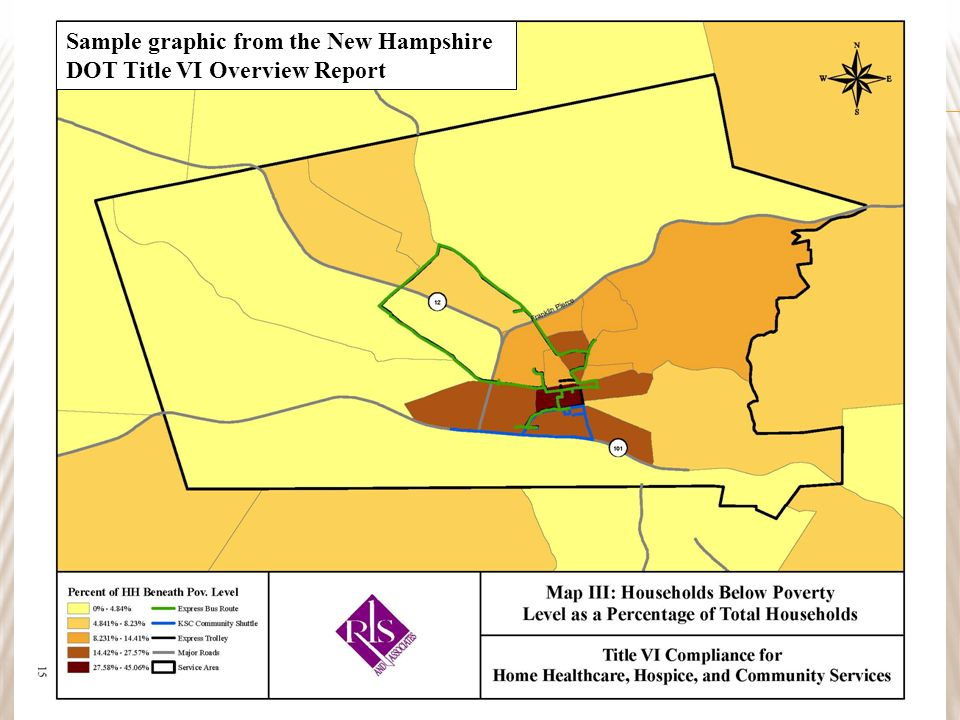 19 Sample graphic from the New Hampshire DOT Title VI Overview Report