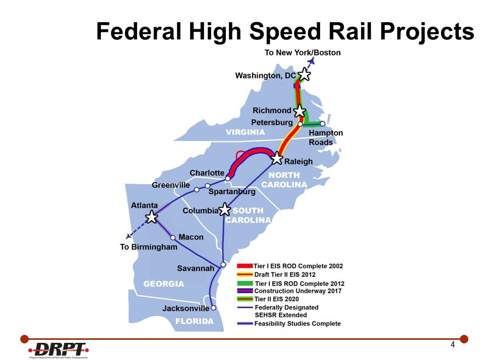 15 Shortline Initiatives Rail Preservation and Development Program 9 shortlines in VA Provide last mile service Maintain FRA class 2 standards –safety, signaling and reliability