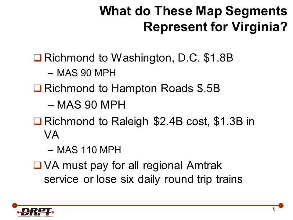 17 Virginia Regional Amtrak Passenger Service Projected Population Areas 17