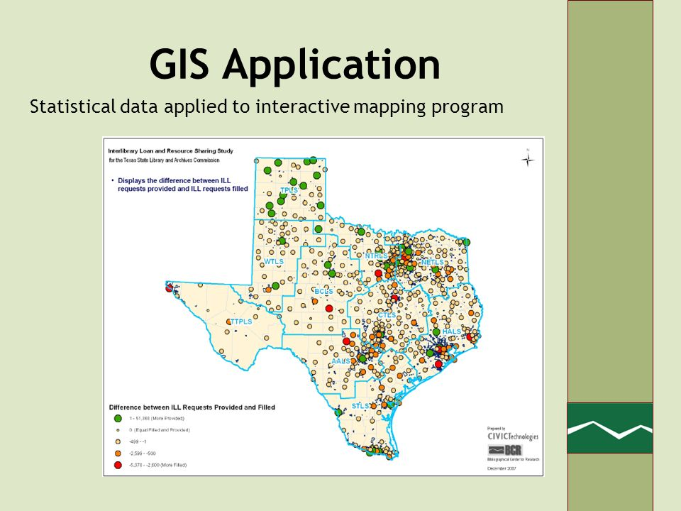 GIS Application Statistical data applied to interactive mapping program