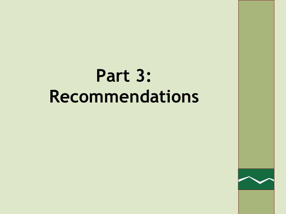 Part 3: Recommendations