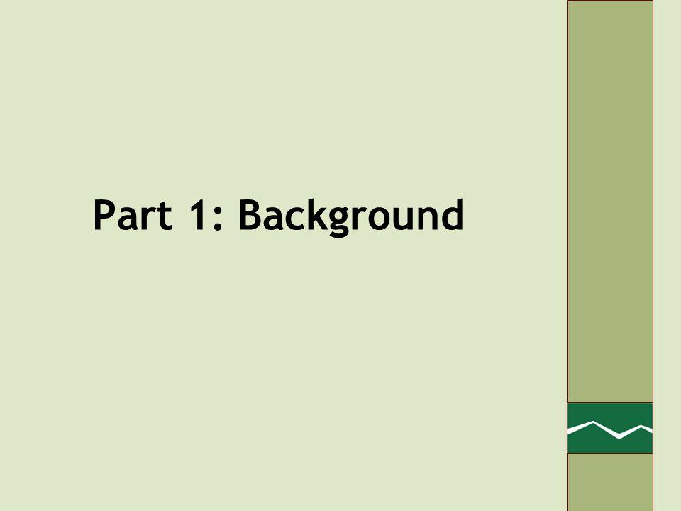 Part 1: Background