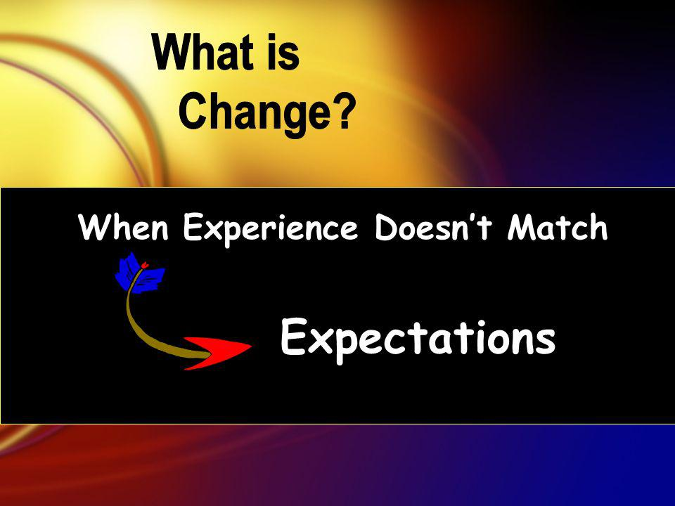 When Experience Doesnt Match Expectations