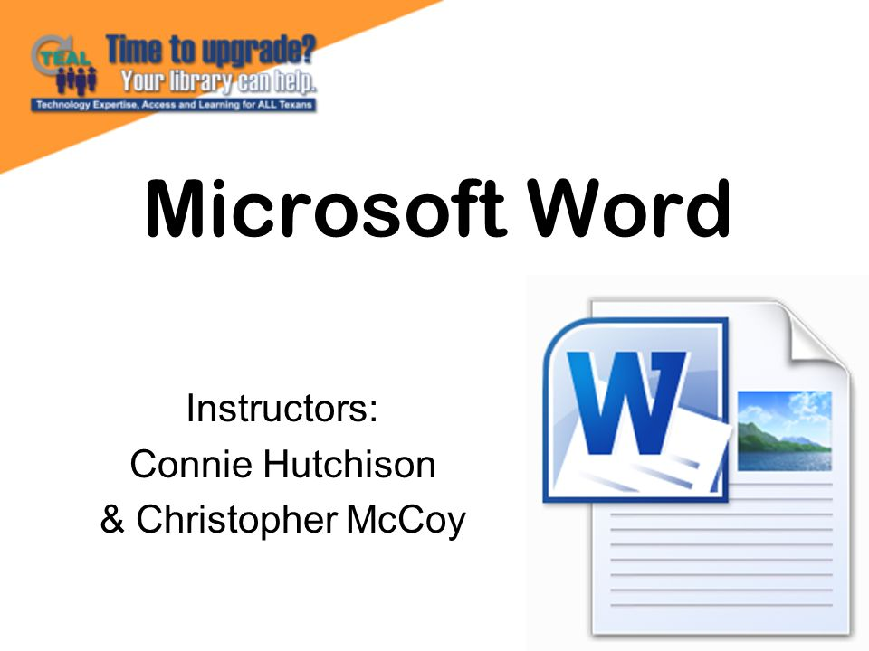 …is the word processing component of the Microsoft Office Suite.