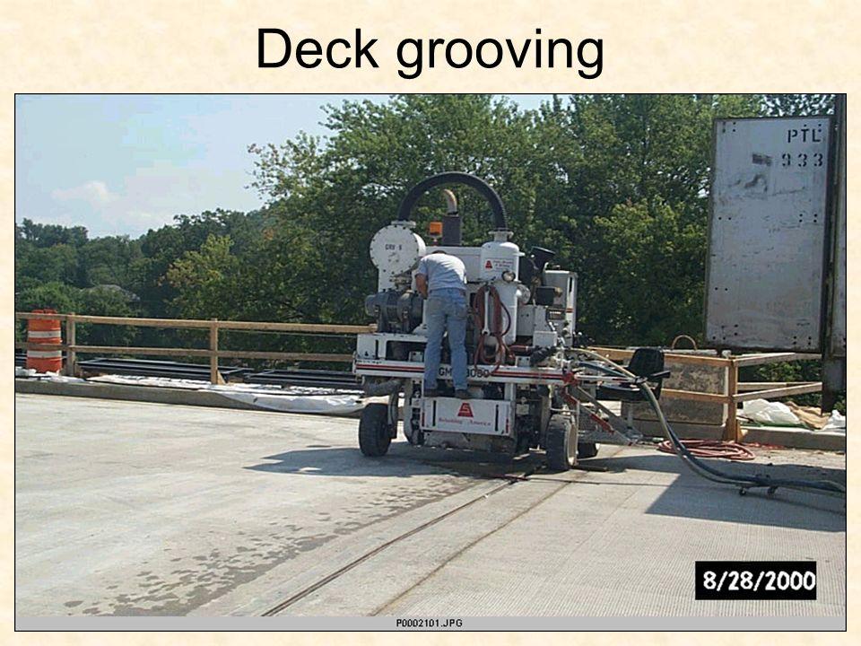 Deck grooving