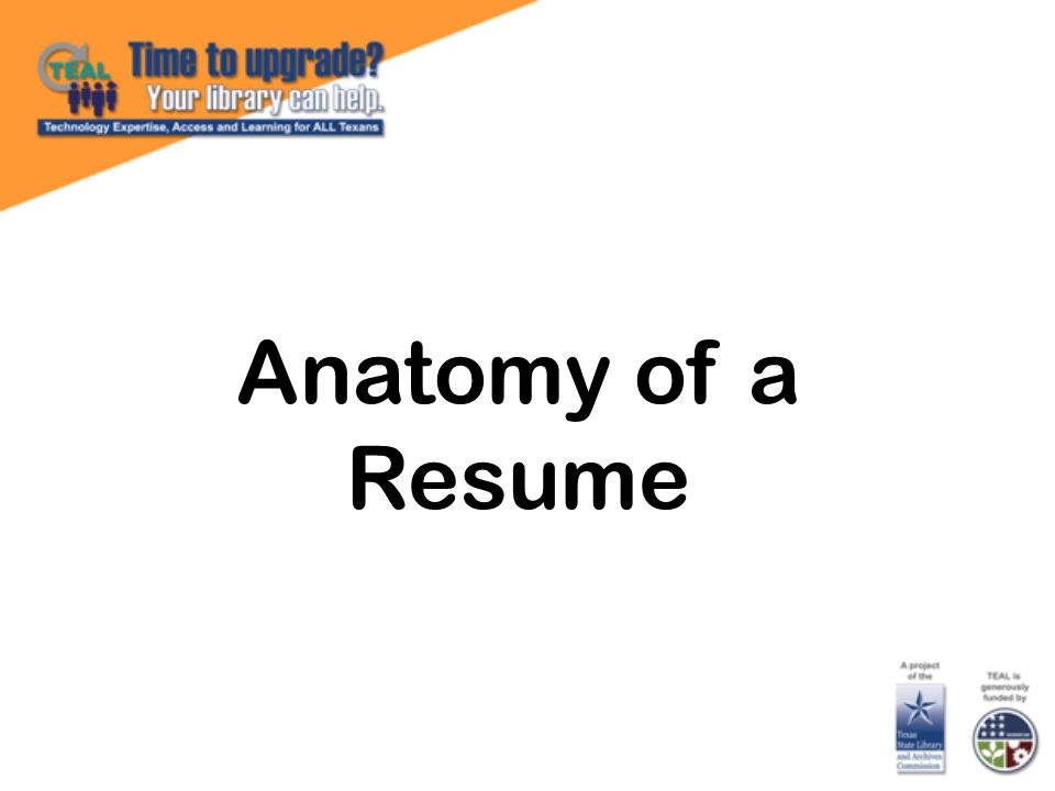 Anatomy of a Resume