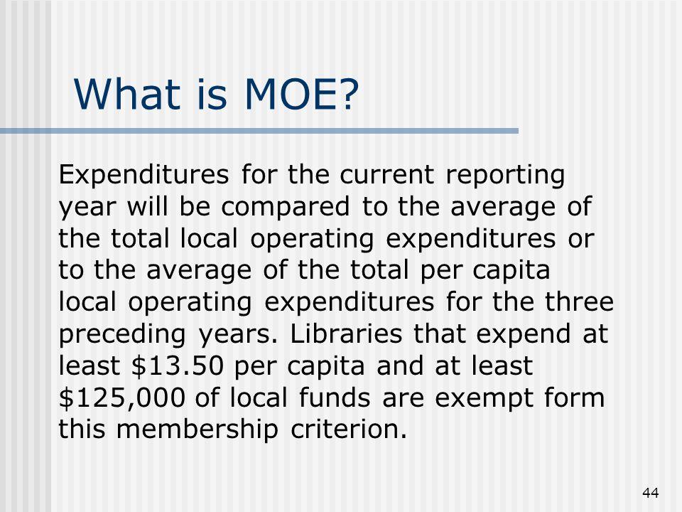 44 What is MOE.