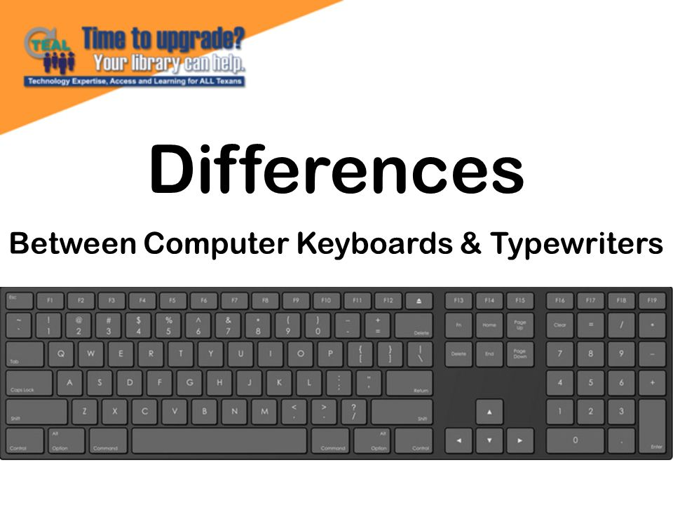 Differences Between Computer Keyboards & Typewriters