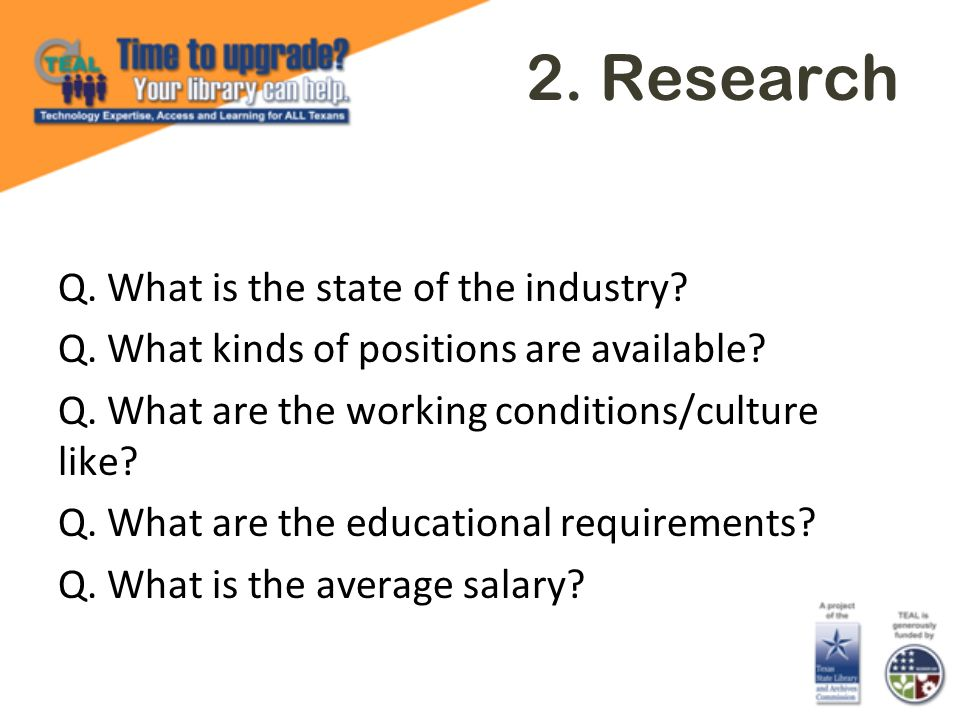 2. Research Q. What is the state of the industry.