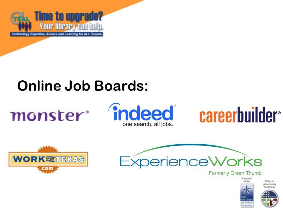 Online Job Boards: