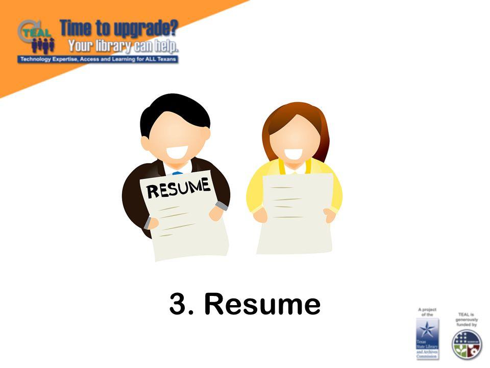 3. Resume