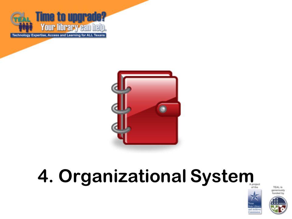 4. Organizational System