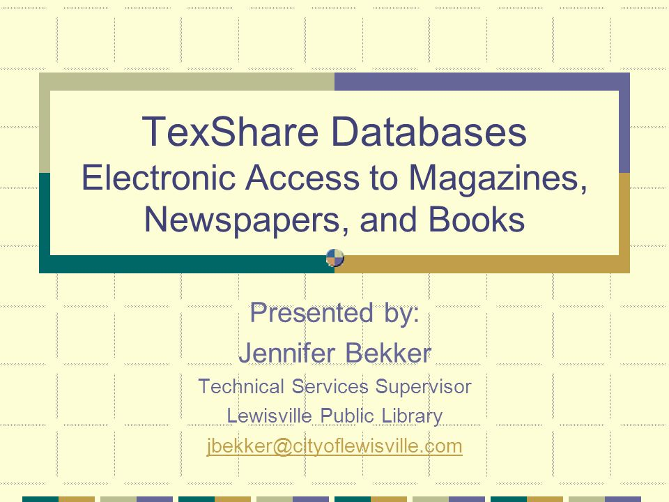 TexShare Databases What are the TexShare Databases.