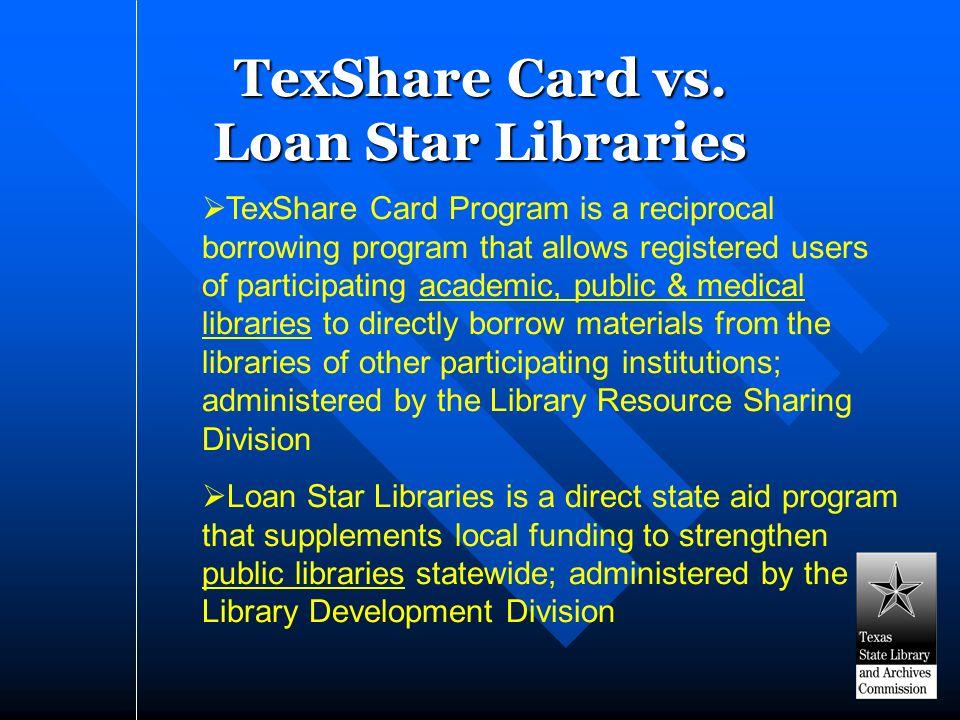 TexShare Card vs.