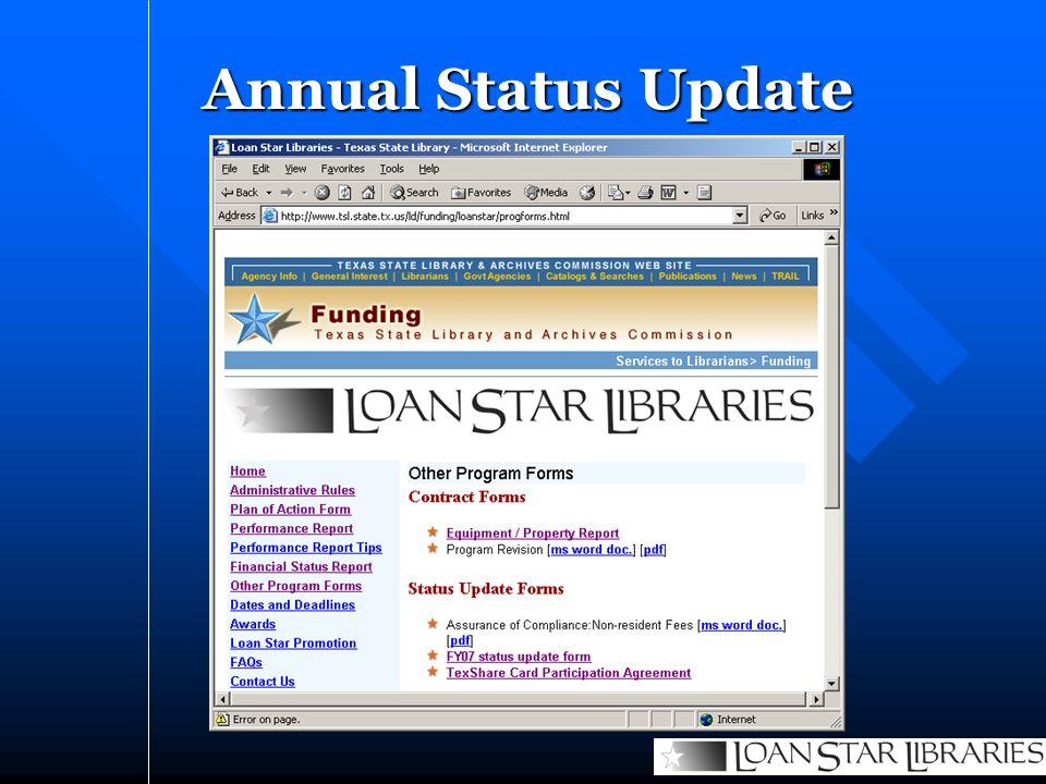 Annual Status Update