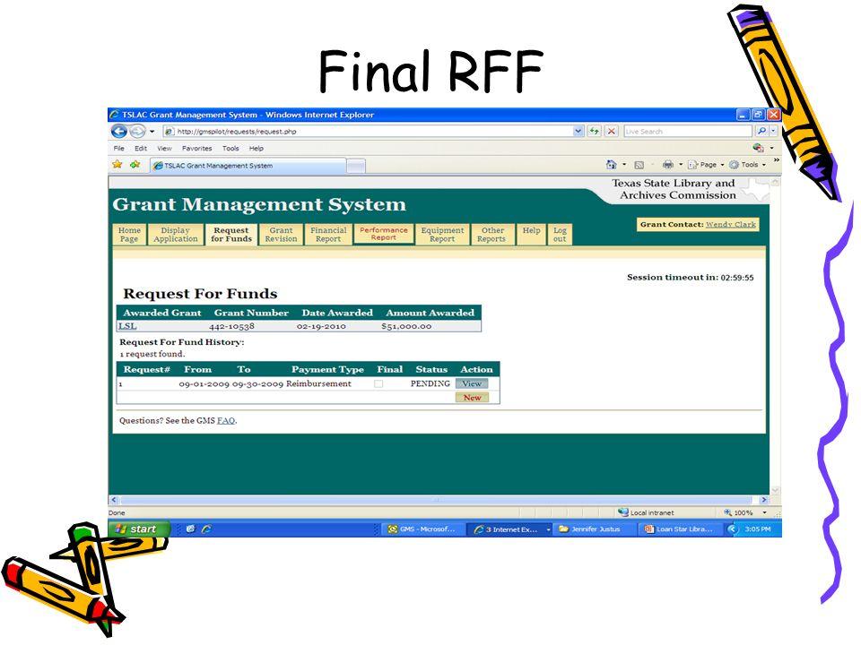 Final RFF