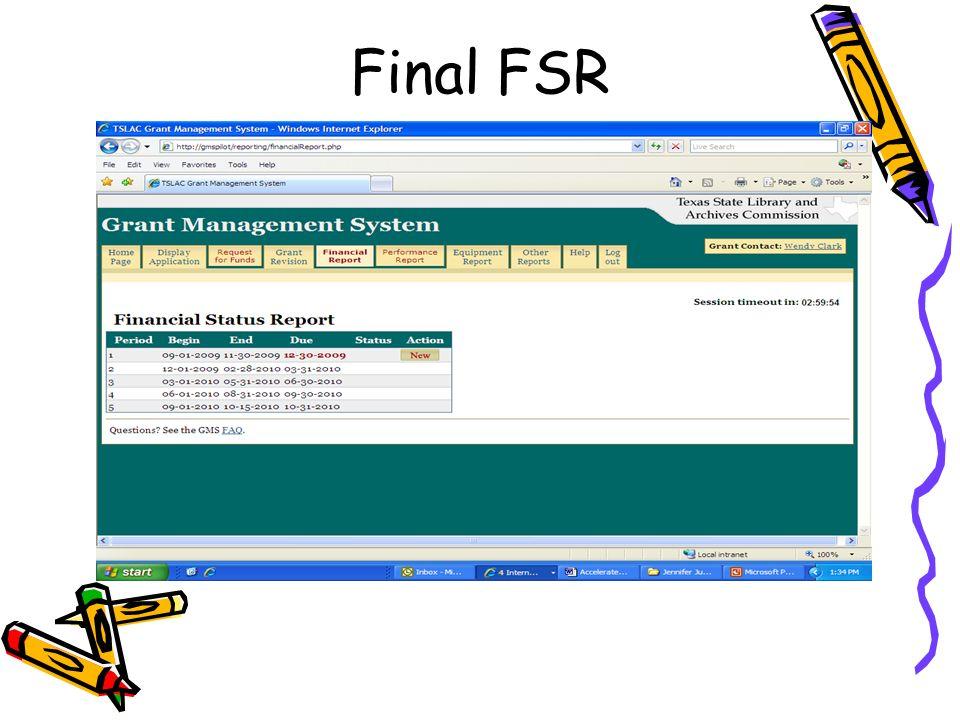 Final FSR
