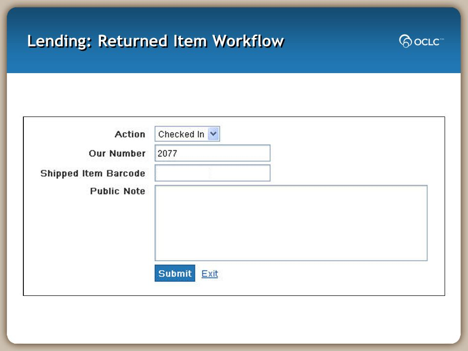 Lending: Returned Item Workflow