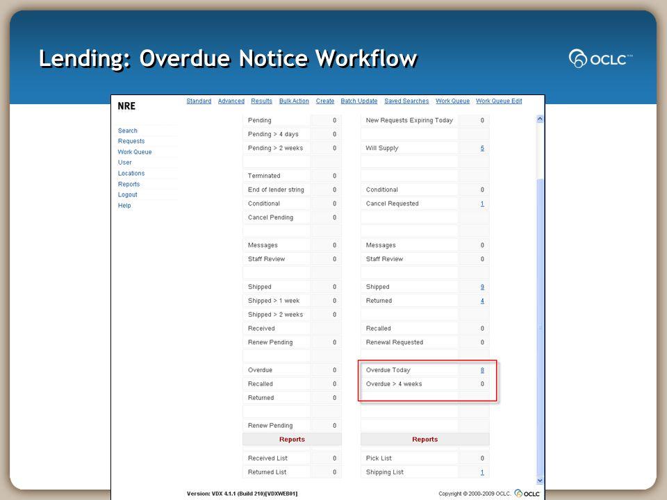 Lending: Overdue Notice Workflow