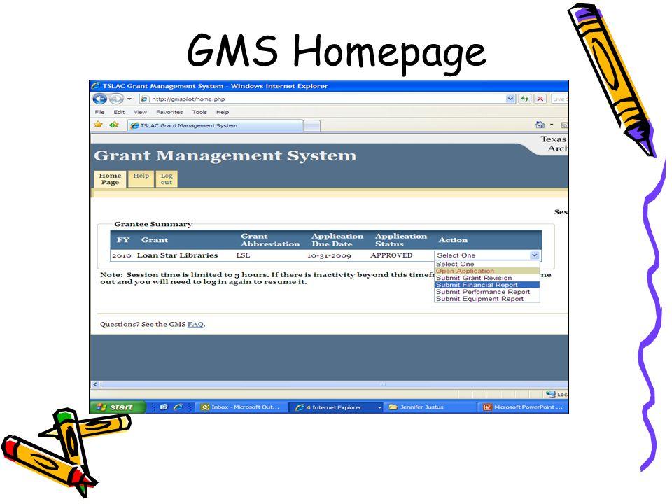 GMS Homepage