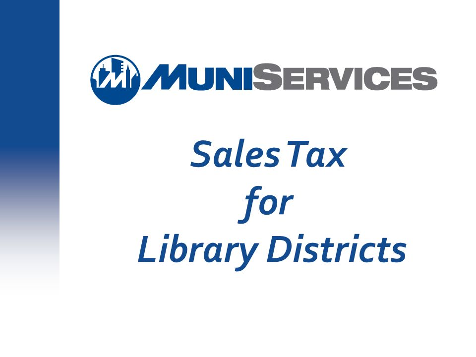 Sales Tax for Library Districts #3