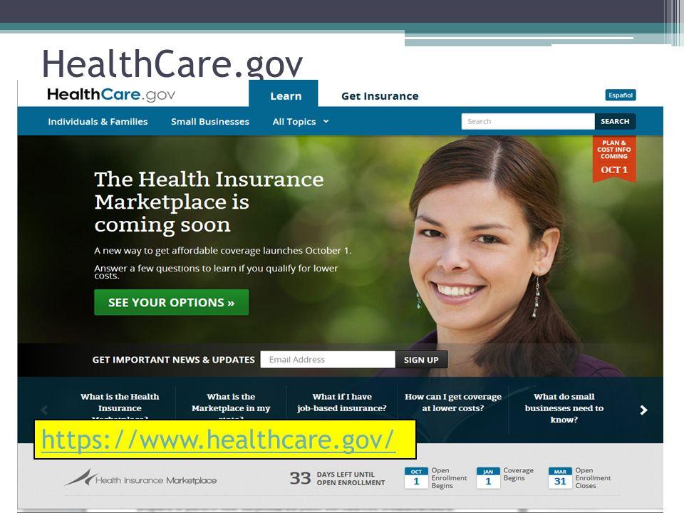 HealthCare.gov https://www.healthcare.gov/