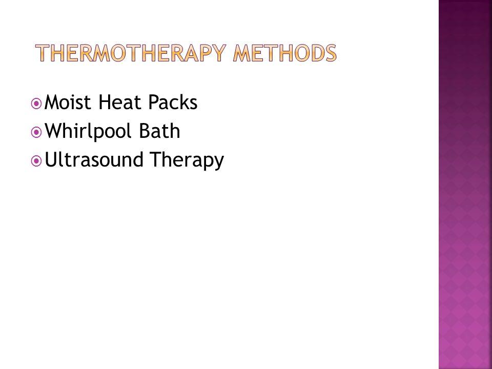 Moist Heat Packs Whirlpool Bath Ultrasound Therapy