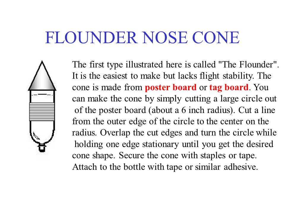 FLOUNDER NOSE CONE The first type illustrated here is called