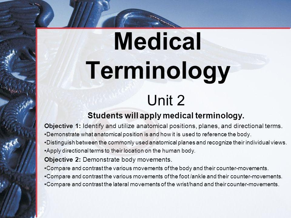 Anatomical Terms Worksheet