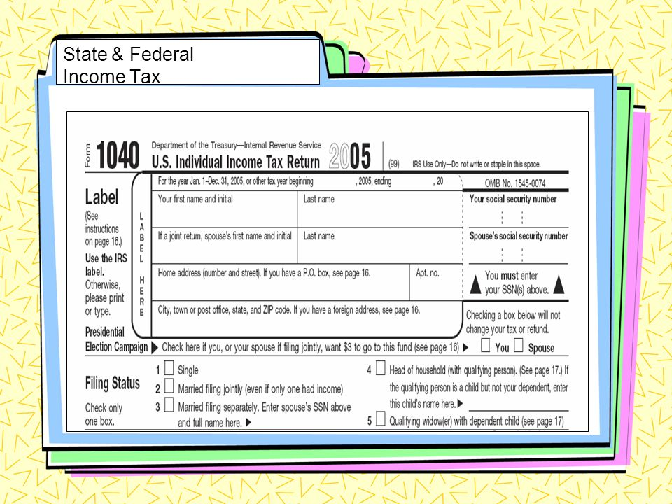 State & Federal Income Tax
