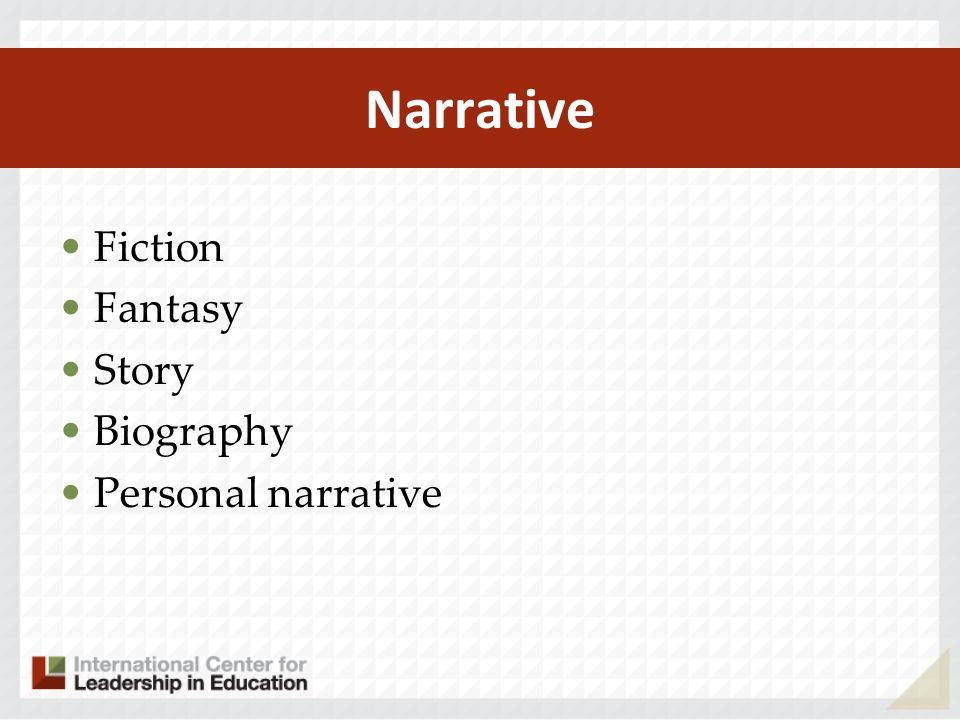 Narrative Fiction Fantasy Story Biography Personal narrative
