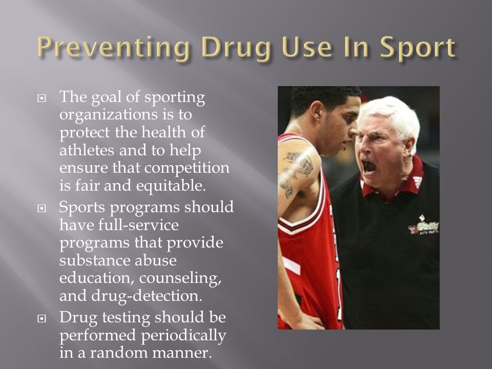 The goal of sporting organizations is to protect the health of athletes and to help ensure that competition is fair and equitable. Sports programs sho