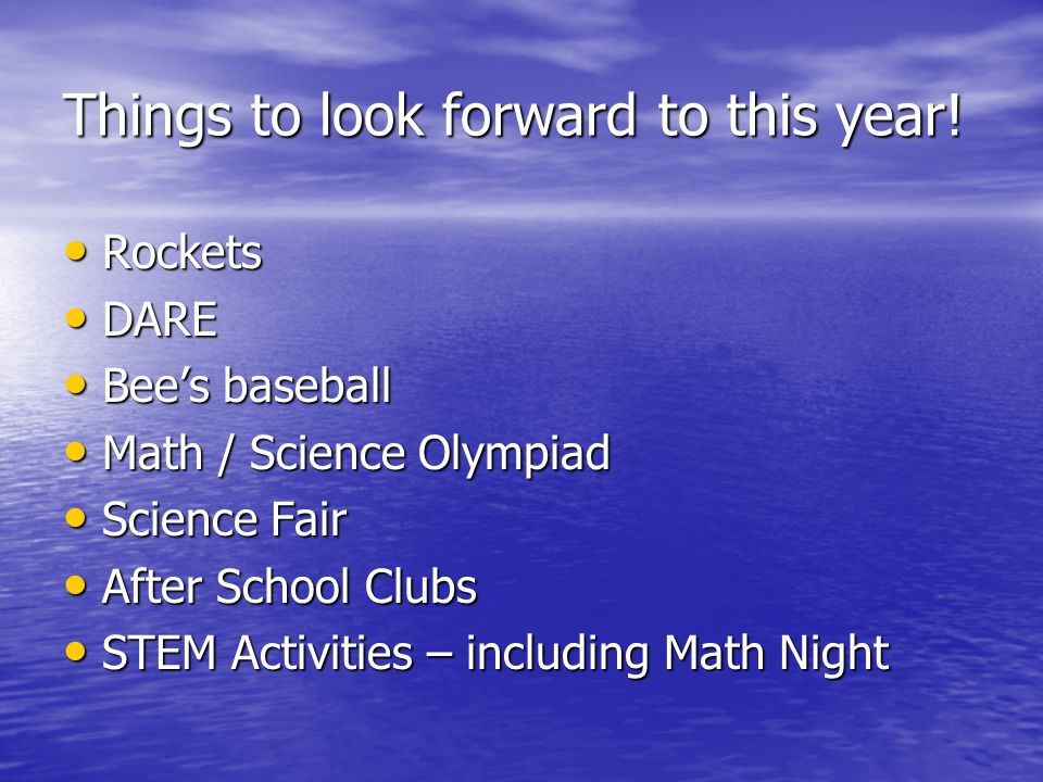 Things to look forward to this year.