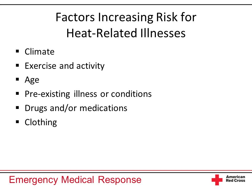 Emergency Medical Response Cold-Related Emergencies Hypothermia: generalized cold exposure Frostbite: localized cold exposure