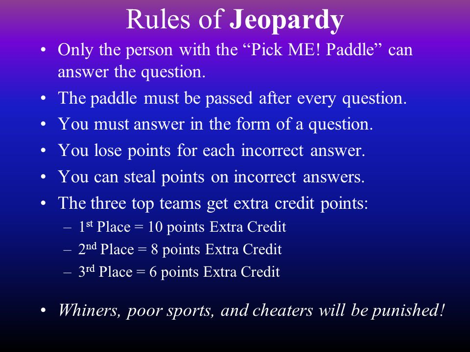 Unit 8 DNA and Genetics Test Review Jeopardy Style!