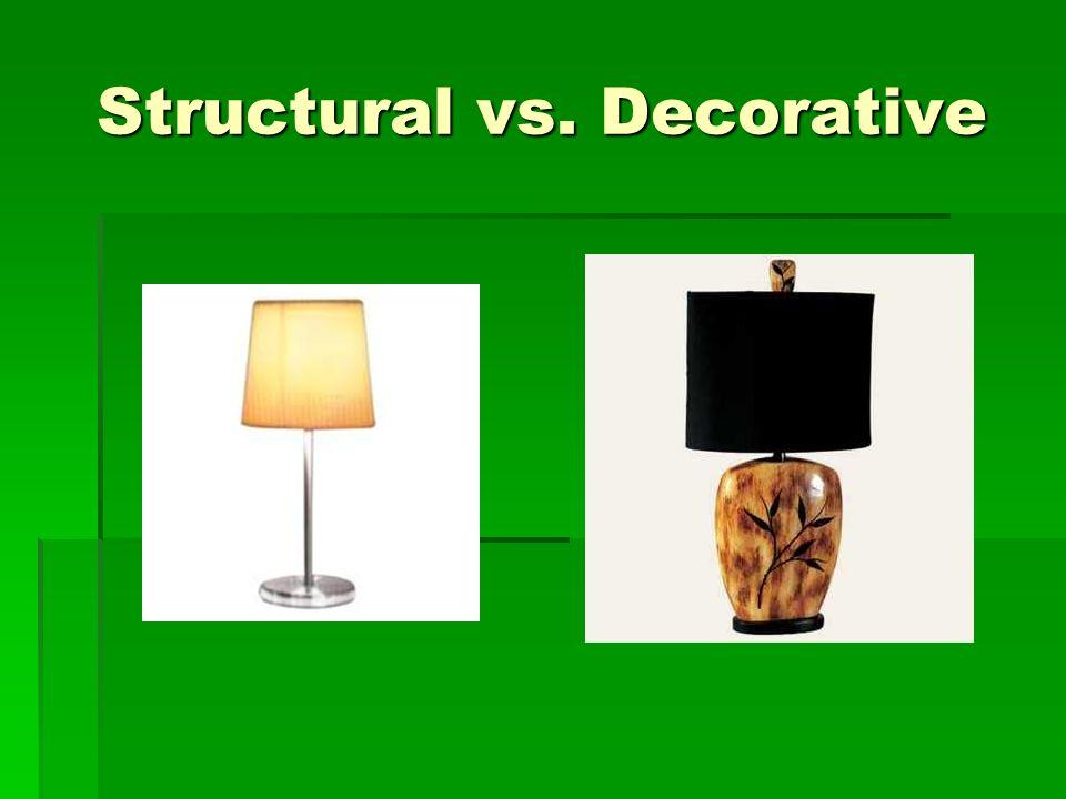 Structural vs. Decorative