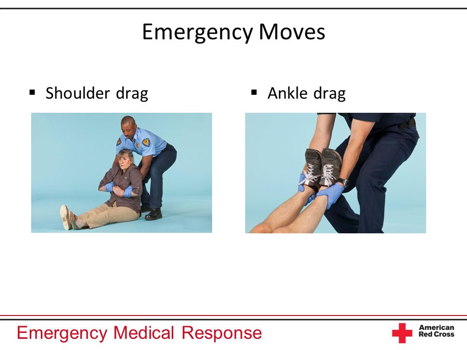 Emergency Medical Response Emergency Moves Firefighters drag Firefighters carry