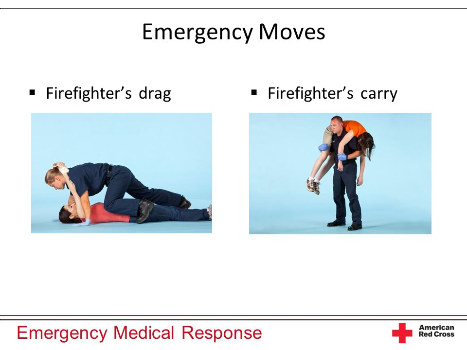 Emergency Medical Response Emergency Moves Pack-strap carry