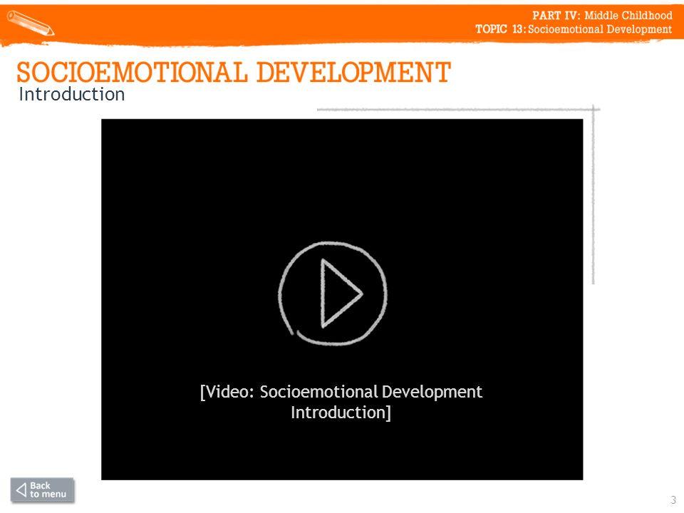 Introduction 3 [Video: Socioemotional Development Introduction]