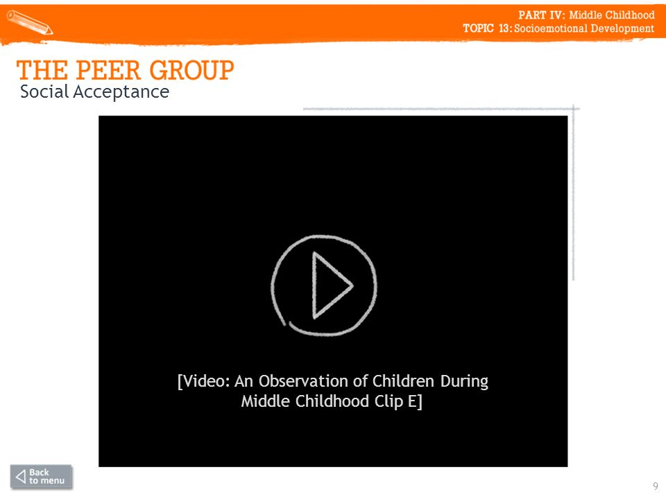 9 Social Acceptance [Video: An Observation of Children During Middle Childhood Clip E]