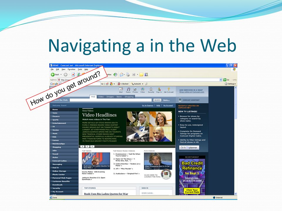 How do you get around? Navigating a in the Web