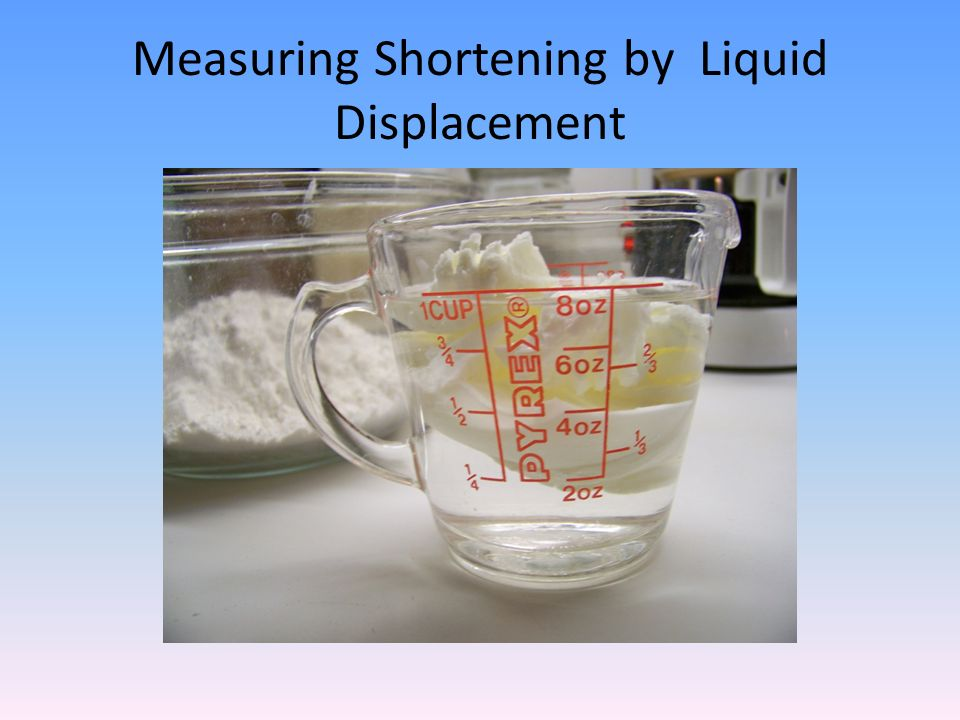Measuring Shortening by Liquid Displacement