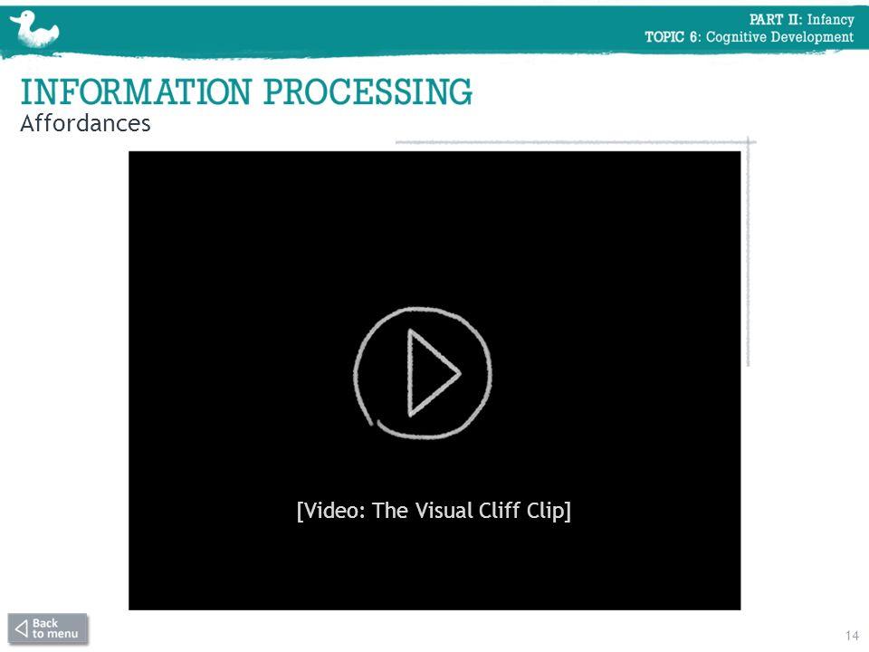 Affordances 14 [Video: The Visual Cliff Clip]